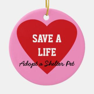 Save a Life-Adopt a Shelter Pet Ornaments