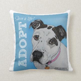 Save a Life! Adopt Throw Pillows