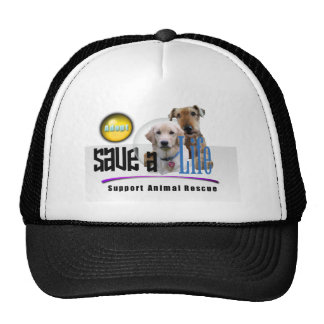 SAVE A LIFE - ADOPT - RESCUE ANIMALS - BE A FRIEND MESH HATS