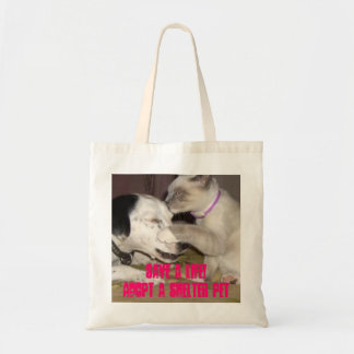 save a life cat/dog shelter pet tote budget tote bag