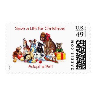 Save a Life for Christmas Postage Stamps