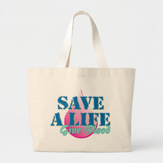 Save a Life - Give Blood Tote Bag