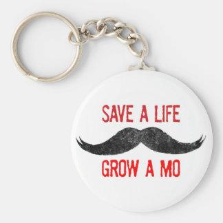 Save A Life - Grow A Mo - Cancer Awareness Keychain