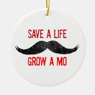 Save A Life - Grow A Mo - Ornament