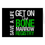 Save a Life Join The Bone Marrow Registry Greeting Cards