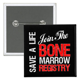 Save a Life Join The Registry Bone Marrow Donor Buttons
