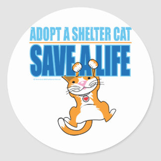 Save A Life Shelter Cat Classic Round Sticker