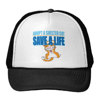 Save A Life Shelter Cat Trucker Hat