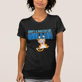 Save A Life Shelter Cat Tee Shirt