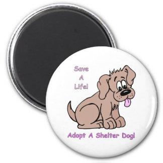 Save A Life-Shelter Dog Fridge Magnet
