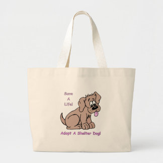 Save A Life-Shelter Dog Tote Bags