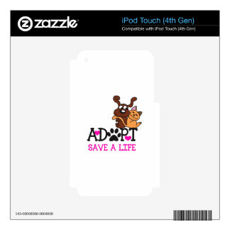 SAVE A LIFE iPod TOUCH 4G DECALS