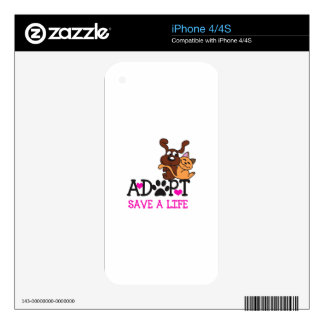 SAVE A LIFE iPhone 4S SKIN