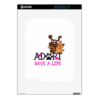 SAVE A LIFE DECALS FOR iPad 2