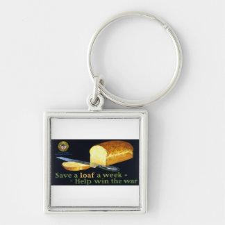 Save a Loaf a Week ~ help Win the War Keychain