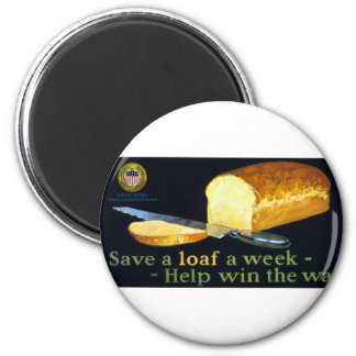Save a Loaf a Week ~ help Win the War Magnet
