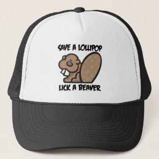 Save a Lollipop Lick a Beaver Trucker Hat