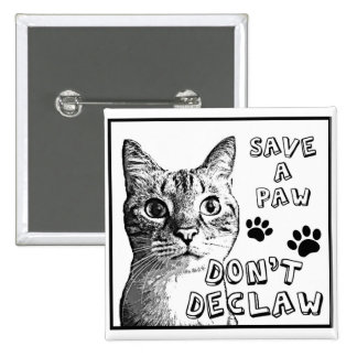 Save a Paw. Don't Declaw. Button