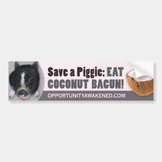 Save a Piggie Car Bumper Sticker