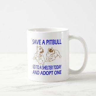 SAVE A PIT BULL COFFEE MUG