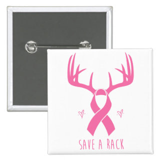 Save a Rack Breast Cancer Support Button