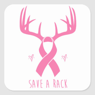 Save a Rack Breast Cancer Support Sticker