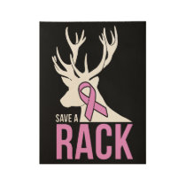 save a rack cancer t-shirts wood poster