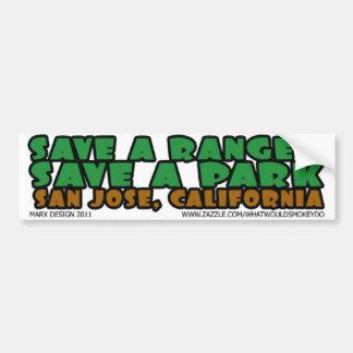 save a ranger save a park san jose bumper sticker