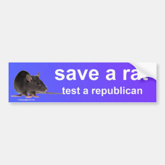 save a rat bumper sticker