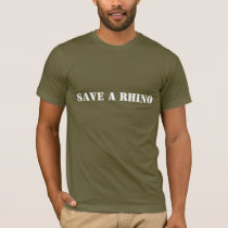 Save a Rhino, Shoot a Poacher T-Shirt