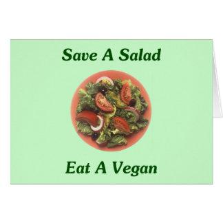 Save A Salad, Eat A Vegan Greeting Card