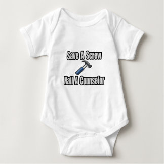 Save a Screw, Nail a Counselor Baby Bodysuit