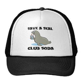 save a seal club soda trucker hat