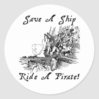 Save A Ship Ride A Pirate! Stickers