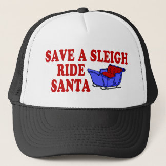 Save A Sleigh Ride Santa Trucker Hat