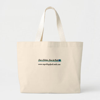 Save a Student...Save the World Large Tote Bag