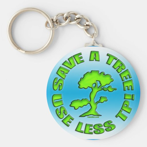 Save A Tree Key Chain
