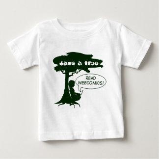 Save a Tree -- Read Webcomics! Infants' Shirt