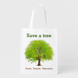 Save a Tree Reusable Grocery Bag