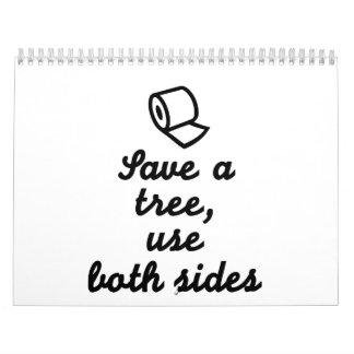 Save a tree use both sides calendar
