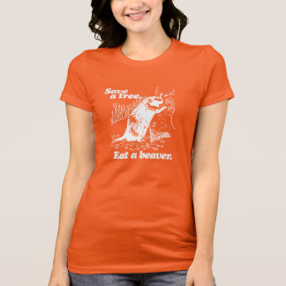 SAVE A TREE - WHITE -.png T-Shirt