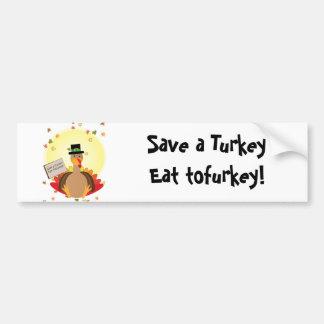 Save A Turkey Bumper Sticker