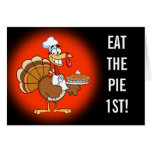 Save a Turkey's Life by Eating Dessert First! Stationery Note Card