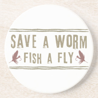 Save a Worm Drink Coaster