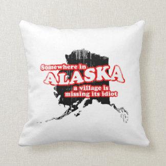 SAVE ALASKA village idiot Faded.png Pillow