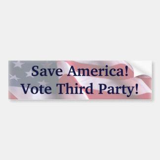 Save America! Bumper Sticker