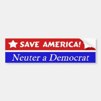 Save America Bumper Sticker Car Bumper Sticker