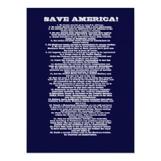 SAVE AMERICA CARD