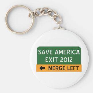 Save America Democrat Keychain