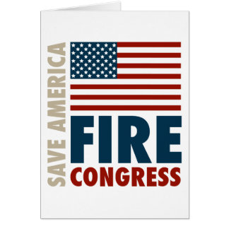 Save America Fire Congress Card